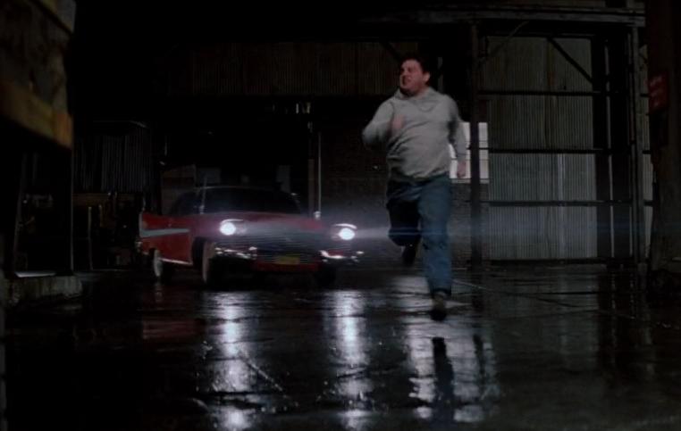 Christine chasing Moochie