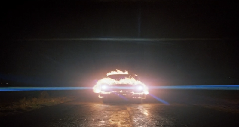 Christine movie car on fire