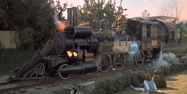 back to future 3 train end movie