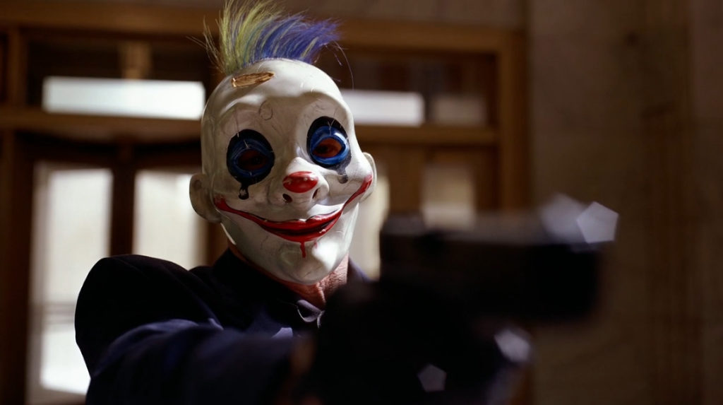 Clown robber in Dark Knight