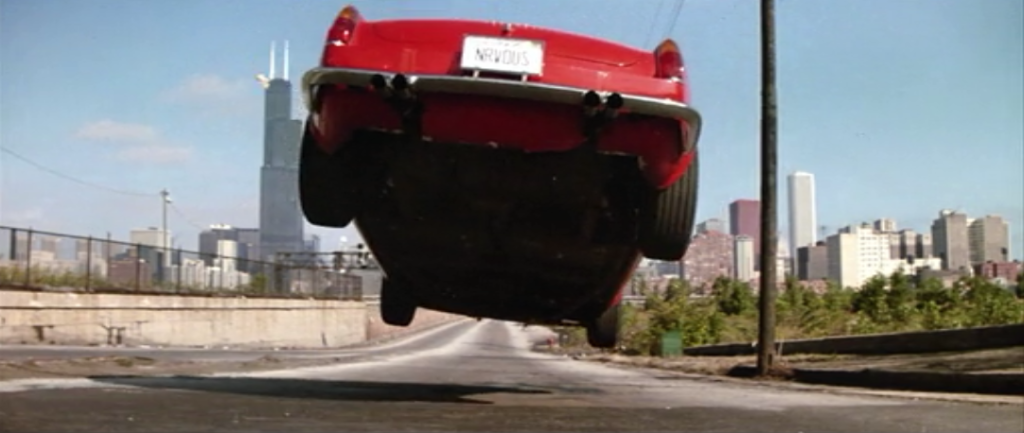 car flying in Ferris Bueller's Day Off