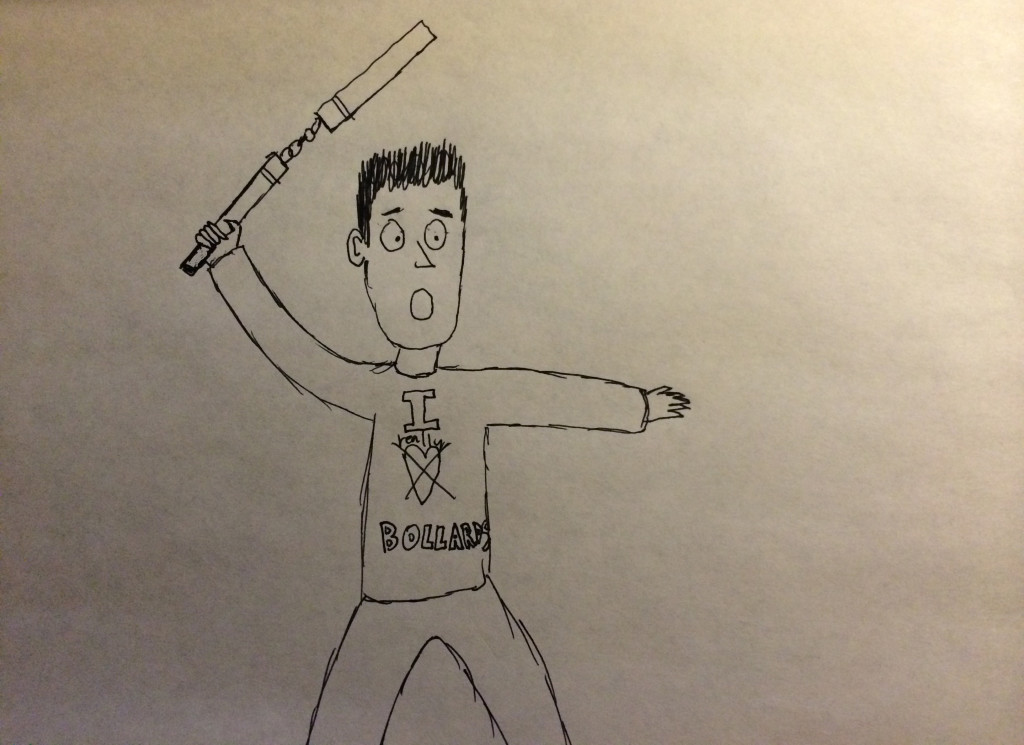 cartoon man with nunchucks